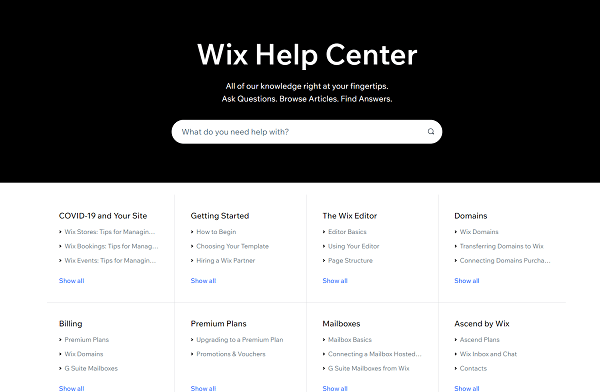 building a website with wix