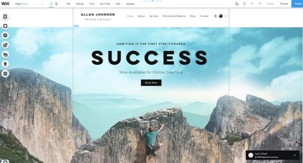 build a wix website